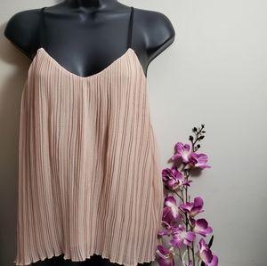H&M Pleated Sleeveless Top